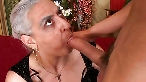 Crazy horny mature demands a young dick in her mouth