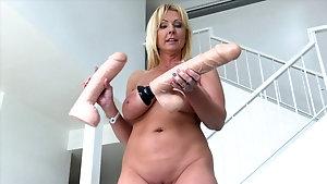 Busty german slut toyed